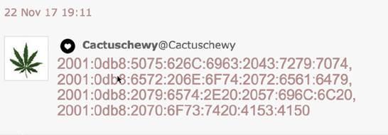 Voorbeeld gecodeerd bericht: lukt het jou om de code te kraken?